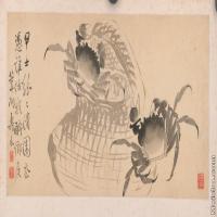 【印刷级】GH6040390古画镜片清 边寿民 杂画图片螃蟹动物-30M-7104X3408_56913657