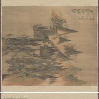 【打印级】GH7271070古画清-杨晋-唐解元诗意图-绢本-群山-绿树C版长卷图片-119M-22362X3355