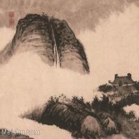 【印刷级】GH6062474古画石涛-设色山水(4)册页图片-41M-3917X3319