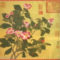 【打印级】GH6060470古画清张伟写生花卉册3册页图片-10M-1700X2057