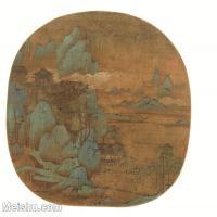 【印刷级】GH6081274古画山水风景-图-国画水墨-27x25-54x50-群山-小品图片-164M-5208X4823