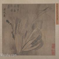 【打印级】GH6080490古画静物宋代徐古岩寒菜图小品图片-27M-3910X2443