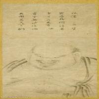 【打印級】GH6086149古畫人物宋元-紙本墨畫布袋圖立軸圖片-56M-2892X6812_1923960