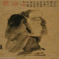 【打印級】GH6086198古畫人物潑墨仙人圖-宋-梁楷立軸圖片-49M-2725X4806_1928874
