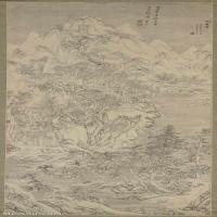 【超顶级】GH6088629古画山水风景明-文伯仁-四万山水图-万山飞雪立轴图片-258M-6048X14912_28569071