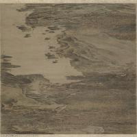 【印刷级】GH7280165古画山水风景秋林观泉图卷 绢本  镜片图片-113M-13659X2906