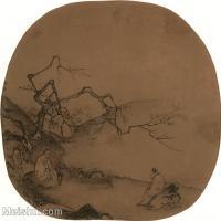 【印刷级】GH6081035古画山水风景马远-梅间后语图小品图片-53M-3984X3718_2057902