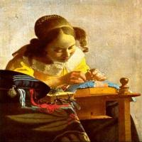 荷兰风俗画家维米尔-花边女工画作欣赏