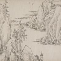 高翔山水图卷-清朝-山水