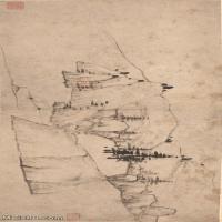 【印刷级】GH7280143古画山水风景清 汪之瑞 山水册页 纸本 镜片图片-63M-6048X2736