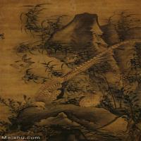 【印刷级】GH6085079古画动物清_林良_雉鸡图立轴图片-66M-3713X6293_57392892