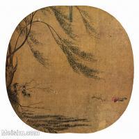 【印刷级】GH6156212古画鸳鸯杨柳山水小品图片-50M-4302X4061