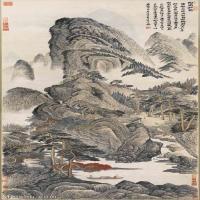 【欣赏级】GH6088737古画山水风景清-陶甫-松菊图-17.63x41.4立轴图片-47M-2429X5705_56830087