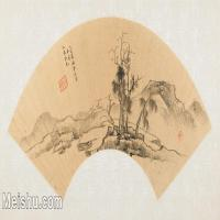 【欣赏级】GH6070432古画山水风景董其昌扇面图片-14M-3200X1583