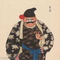 【印刷级】GH6061471古画脸谱(50)-人物-朱光祖册页图片-38M-3245X4149