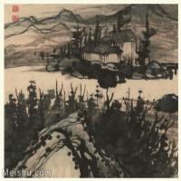 【印刷级】GH6060120古画石涛设色山水风景册页图片-54M-4069X3470_56935794