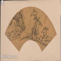 【印刷级】GH6040268古画扇面山水图-文嘉图片-60M-6319X3348_18127721