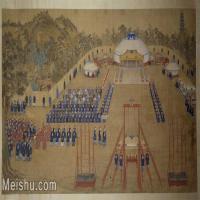 【印刷级】GH6156074古画清-王致诚-万树园赐宴图人物小品图片-70M-6638X3712