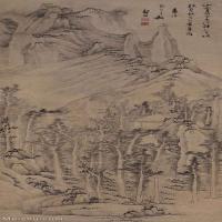 【打印级】GH6088593古画山水风景山家黄叶图立轴图片-82M-3237X8930_15432196