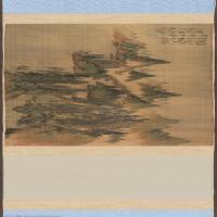 【打印级】GH7271071古画清-杨晋-唐解元诗意图-绢本-群山-绿树D版长卷图片-218M-26883X2843