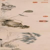 【印刷级】GH7280523古画植物明 朱瞻基 莲浦松吟荫图 纸本镜片图片-97M-12795X3071_47733513