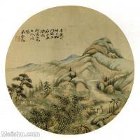 【印刷级】GH6081377古画山水风景-清代名家-小品图片-17M-2480X2497
