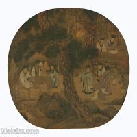 【印刷级】GH6156068古画文会图人物小品图片-43M-3985X3827