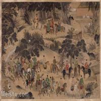 【印刷级】GH6152800古画册页山水明-商喜明宣宗行乐图图片-69M-6281X3840