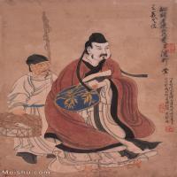 【超顶级】GH6086061古画人物王羲之像-清-陈洪绶-纸本-书圣白鹅-30x48.5-40x64.5立轴图片-293M-7525X12158