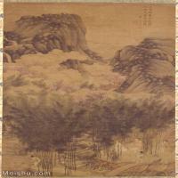 【打印级】GH6088023古画山水风景竹裡泉声図+李士達筆立轴图片-28M-2609X3867_15572659