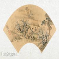 【欣赏级】GH6070386古画山水风景扇面图片-14M-3199X1608