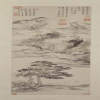 王翚岩栖高士图轴-清朝-山水