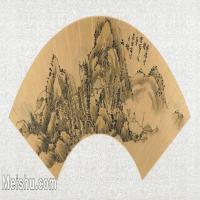 【欣赏级】GH6070396古画山水风景Yong扇面图片-14M-3200X1570