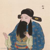 【印刷级】GH6061449古画脸谱(30)-人物-知县册页图片-39M-3299X4146
