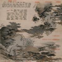 【超顶级】GH7280161古画山水风景盆菊图纸镜片图片-296M-17625X4823_19108344