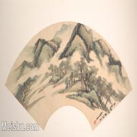 【欣赏级】GH6070377古画山水风景扇面图片-6M-2000X1095