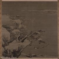 【超顶级】GH6088675古画山水风景朱端-寒江独钓图立轴图片-199M-5777X8985_28593314