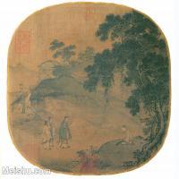 【印刷级】GH6081030古画山水风景马远-孔子仿荣启期图页-小品图片-57M-4711X4300