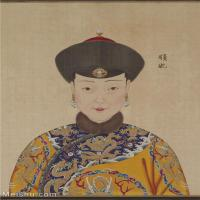 【印刷级】GH6151056古画册页人物清郎世宁高宗帝后像-顺妃图片-6M-1300X1785_57612682