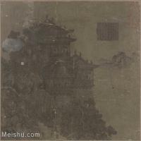 【印刷级】GH6080044古画夏永岳阳楼图页-国画工笔画小品-27x25-64.5x60-建筑-小品图片-63M-4885X4530