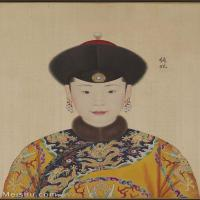 【印刷级】GH6151053古画册页人物清郎世宁高宗帝后像-纯妃图片-6M-1254X1785_57610685