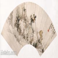 【打印级】GH6070270古画山水风景扇面图片-35M-5160X2412