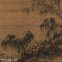 【欣赏级】GH6081279古画山水风景荷塘按乐上海博物馆藏品-25x29-30x35-池塘-建筑-人物-小品图片-23M-2293X2661_18344141