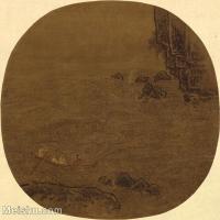 【印刷级】GH6081005古画山水风景李嵩-赤壁赋图小品图片-26M-3096X2953