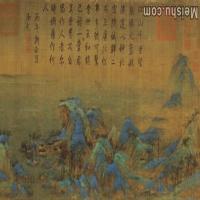 【超顶级】GH7280155古画山水风景王孟希千里江山图镜片图片-347M-7115X11846_1873806