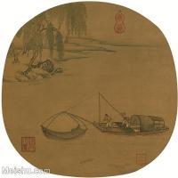 【印刷级】GH6081350古画山水风景-湖泊渔船囧小船只-小品图片-39M-3450X3287_18333533