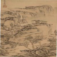 【印刷级】GH6040086古画立轴-清 陈焕-山水图轴图片深山山林山水-121M-2625X12162_56876498