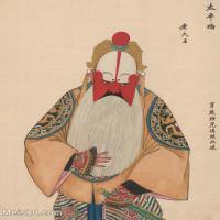 【印刷级】GH6061436古画脸谱(19)-人物-老大王册页图片-38M-3277X4131