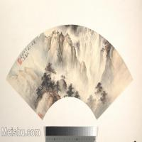 【打印级】GH6070378古画山水风景扇面图片-27M-4000X2425
