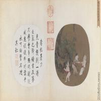 【印刷级】GH6080557古画人物宋-佚名-秋庭戏婴图页-故宫博物院藏-最清晰版小品图片-165M-10246X5654